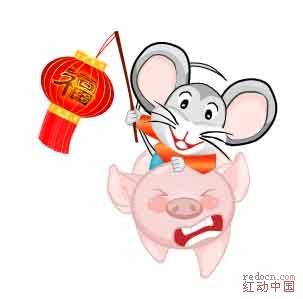2008新年素材-老鼠和猪ai
