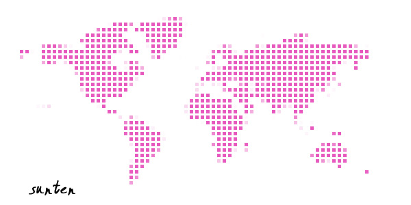 photoshop制作数码点阵世界地图特效 photoshop制作数码点阵世界地图