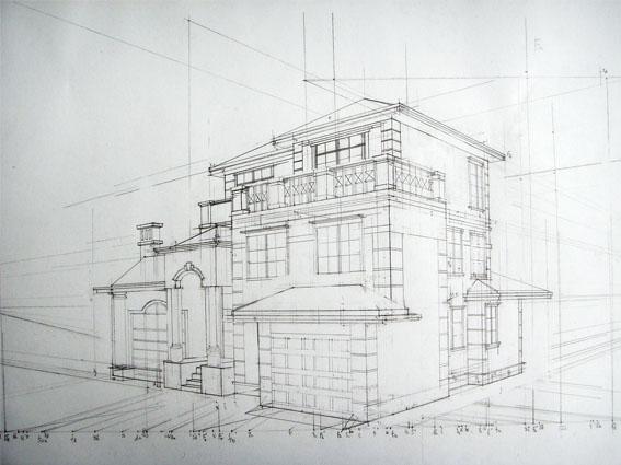别墅两点透视图_其他广告_平面_原创设计 第一设计网