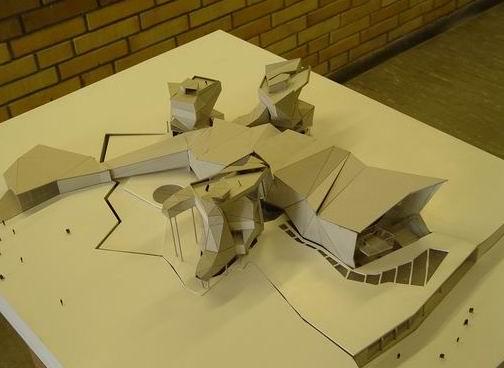 美国建筑学院学生概念设计方案模型