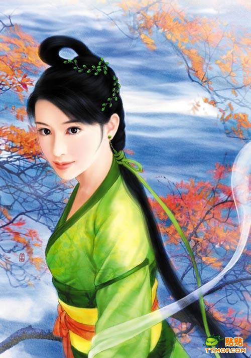中国古装美女手绘,超PP哦图片