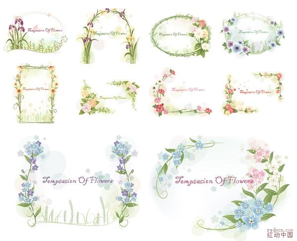 08新品---五组靓丽春天风景花边素材集