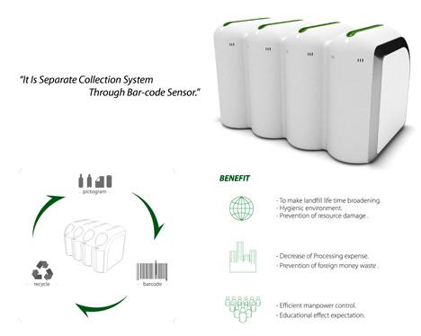 感应式分类垃圾桶设计