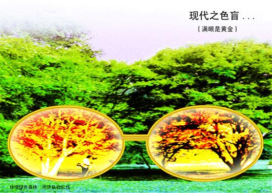 学生作品(保护森林)_宣传单|折页