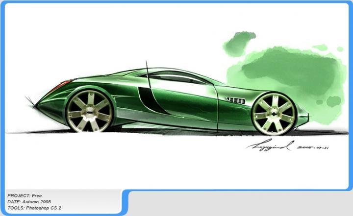 0张经典汽车手绘