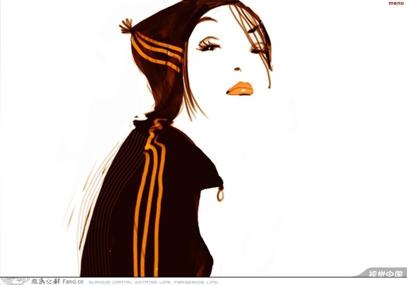 法国设计师saphie griotto的美女插画