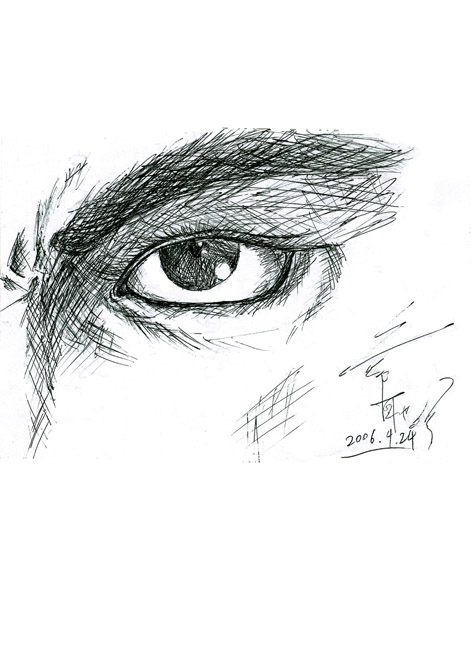 我的漫画人物设计铅笔稿