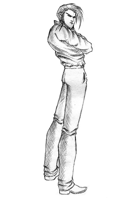 我的漫画人物设计铅笔稿_手绘|习作_插画_原创设计 第