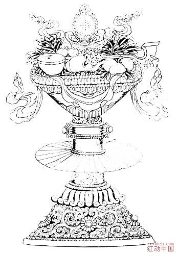 藏族建筑手绘画
