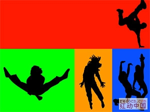 芭蕾舞人物动作剪影 矢量素材 素材下载 资讯娱乐