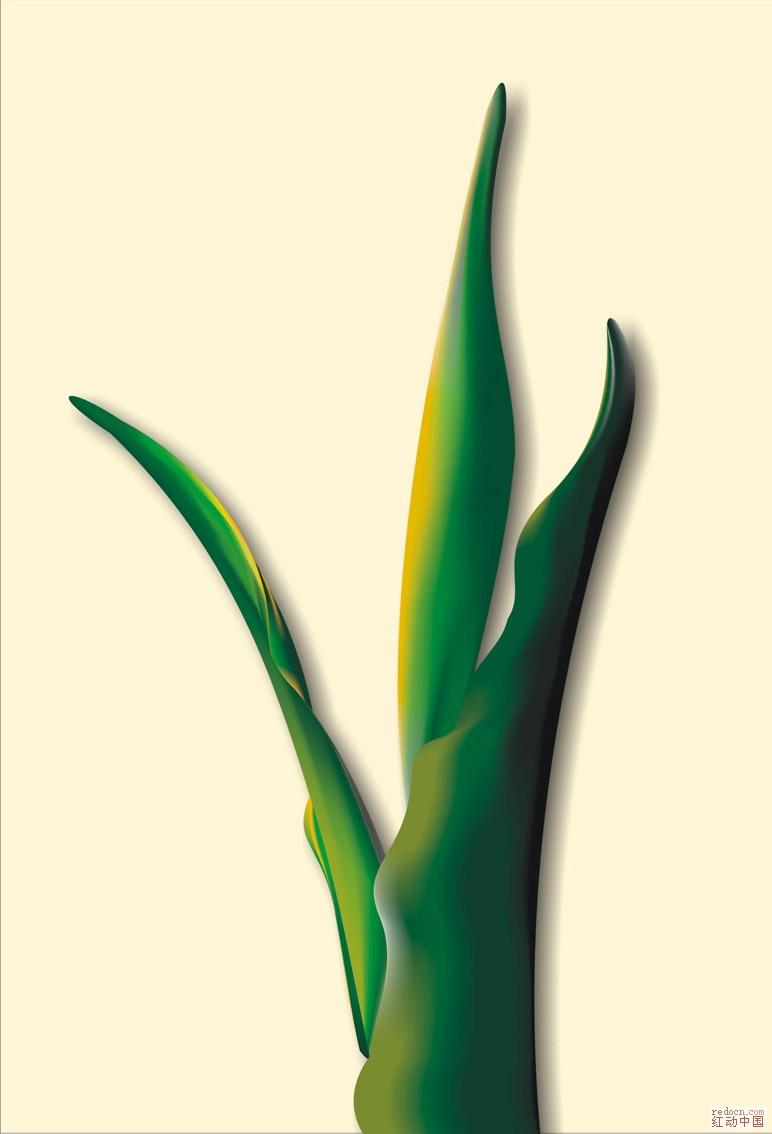 原创cdr格式的植物_矢量素材
