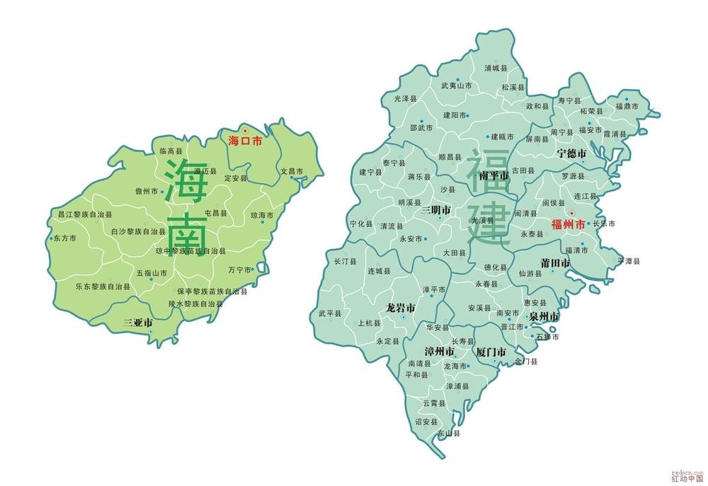 福建到海南的地图