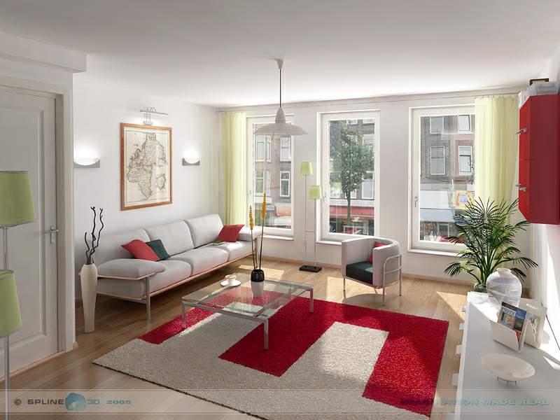 室内效果图 公寓套房 家装设计 空间设计 三维区 设计图