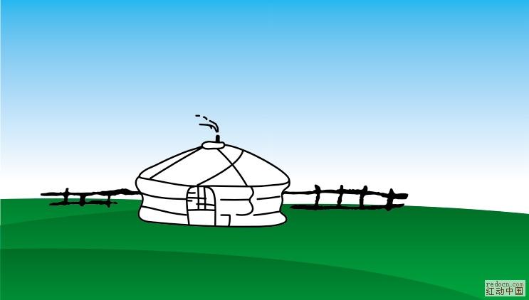 矢量蒙古包草原_矢量素材_素材下载_资讯娱乐 第一网