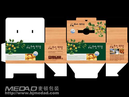 带平面展开图的西山玉巴达包装设计-土特产类食品