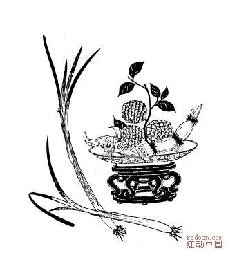 龙.凤.喜&剪纸边角&窗花纹案