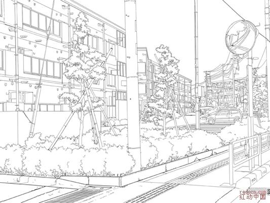 街道风景线描