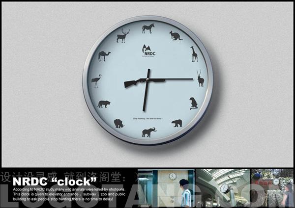 nrdc自然资源保护协会公益广告-保护野生动物的时钟
