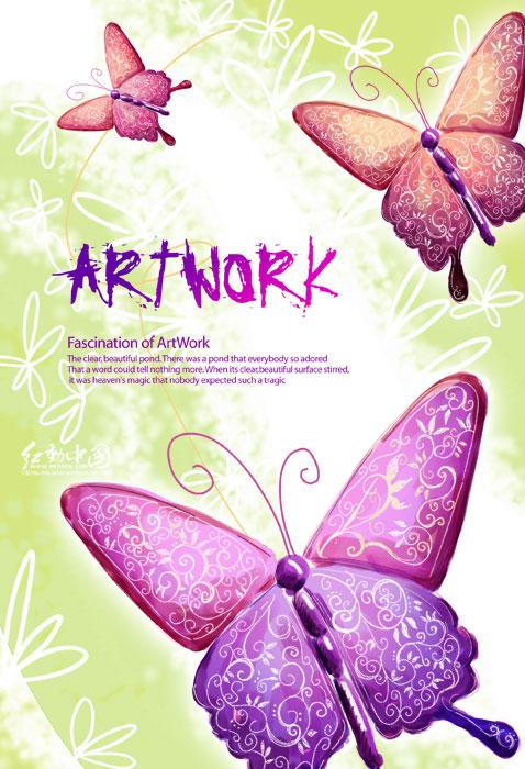 瓷器花纹花卉 图案底纹 绘画速描花纹 欧美韩国实用素材 -花纹图案类