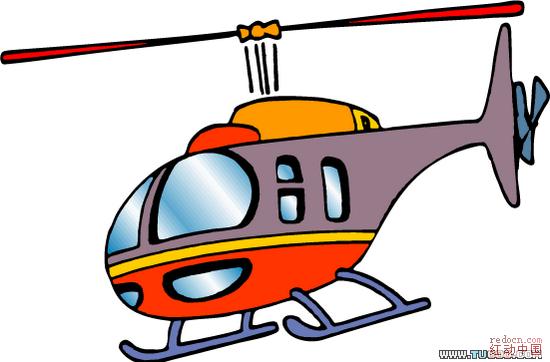 卡通直升飞机图片