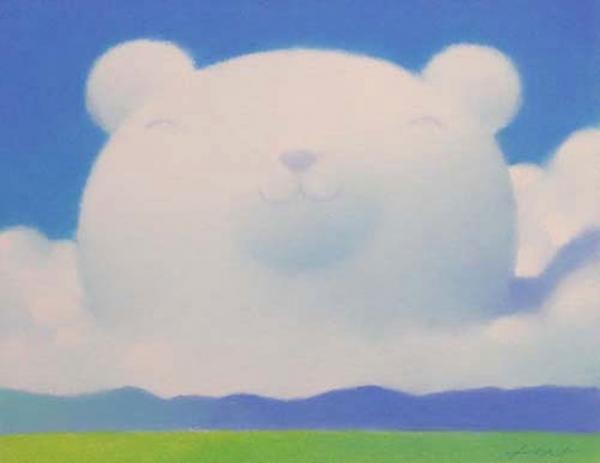 渡边宏—棉花糖的梦^粉笔画