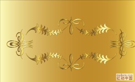 [金花边纹]金色华丽花边花纹矢量素材