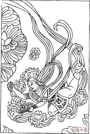 敦煌壁画线描稿【第一集】 (cdr 8.0 ai 10)