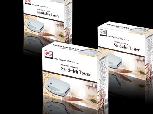 三明治面包机外销电器包装盒设计