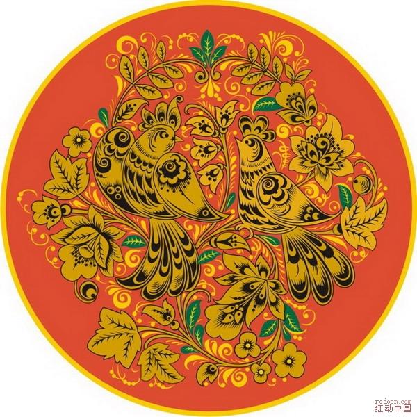 29款古典圆形花纹系列矢量素材9(部份预览图)