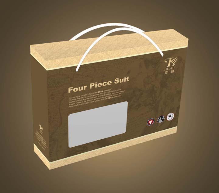 欧式冬被四件套家纺包装盒设计