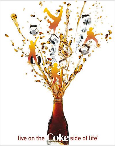 可口可乐的创意海报_饮料_包装_佳作欣赏 专业设计网