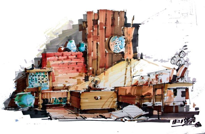 庐山艺术手绘学生作品集