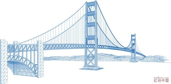 金门大桥线图/矢量东方明珠_矢量素材_素材下载_资讯