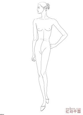 人物形体线描素材(男女性看图)