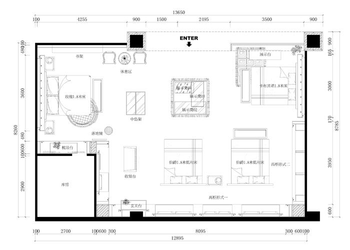 一个百货商场的设计(原创)_卖场|展厅|陈列_空间/建筑