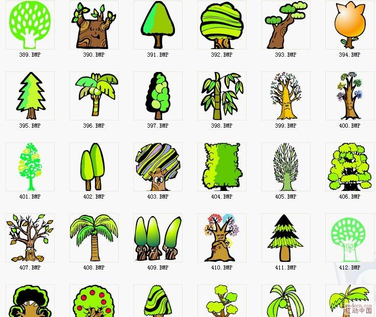 pop手绘可爱植物_矢量素材_素材下载_资讯娱乐 专业网