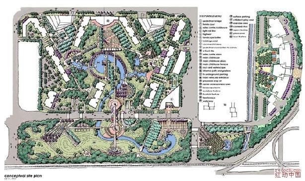 手绘鸟瞰图欣赏 建筑 外景 空间设计 三维区图片