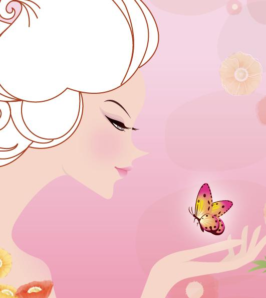 做着设计,梦想插画,矢量美女3幅