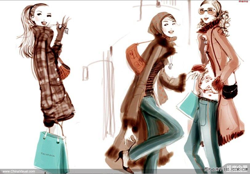 法国设计师的美女插画欣赏