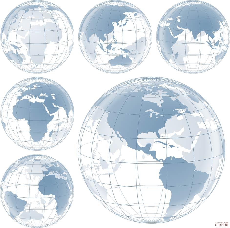 多款地球_矢量素材_素材下载_资讯娱乐 第一设计网