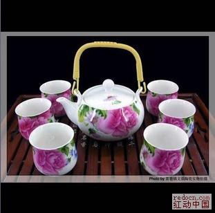 景德镇瓷器、骨瓷贵妃7头提梁壶居家茶具 -景德镇瓷器 瓷都