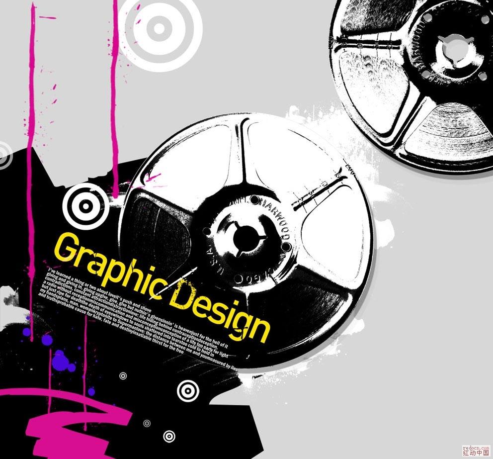 韩国设计元素2 超酷胶盘