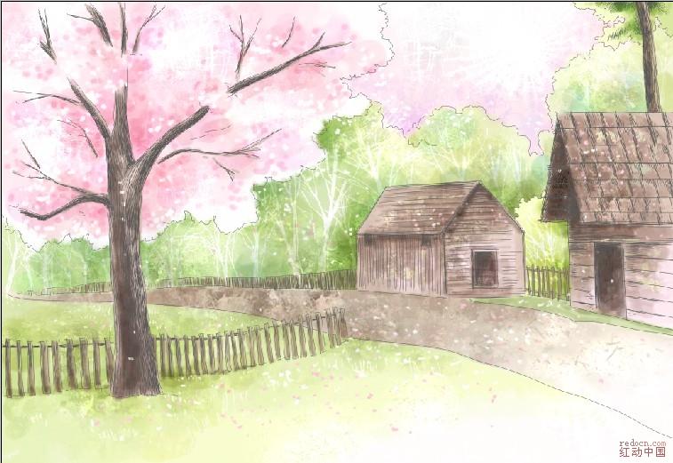 浪漫水粉樱花 - 流行时尚-稀有位图下载(分层图)