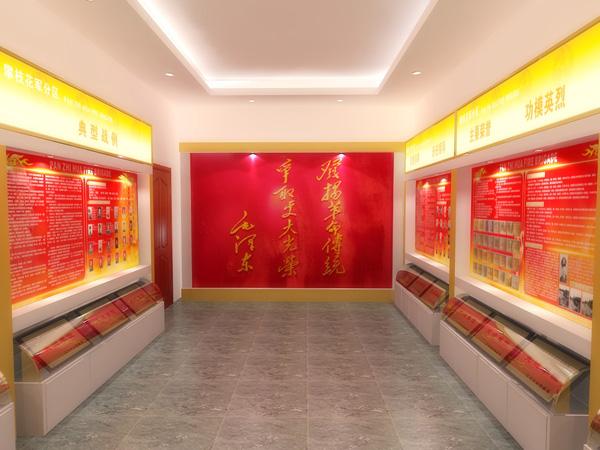 为军分区做的荣誉室效果图 展台 展厅 空间设计 第一设计