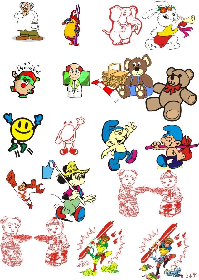 论坛首页 资讯娱乐 素材下载 矢量素材 03 !卡通形象素材!