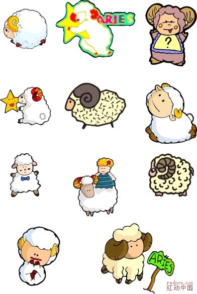 可爱卡通羊_矢量素材_素材下载_资讯娱乐 专业设计网