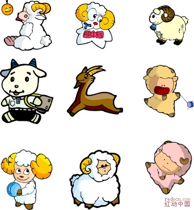 可爱卡通羊