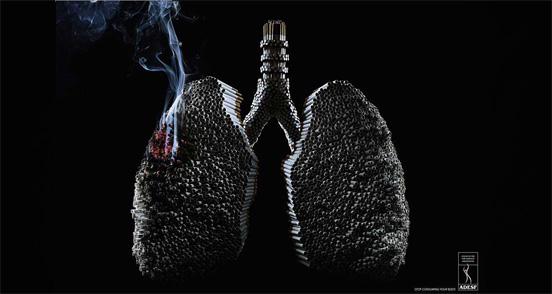 45个禁烟创意广告_报纸报刊_平面_佳作欣赏 专业设计