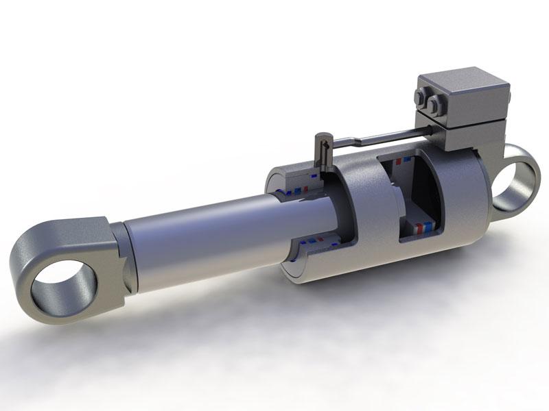 液压 塔机液压缸 模型效果图 工业设计 产品设计 三维区