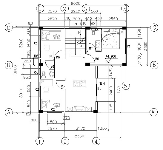 80平方的房屋圖_布局|規劃_空間/建筑_原創設計 專業